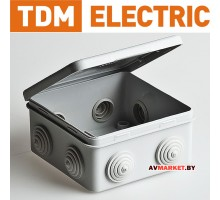 Коробка распред. с крышкой 80х80х50мм IP54 7 вх TDM Россия
