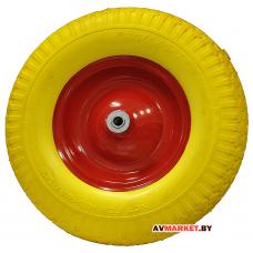 Колесо для тачки 4,00-8 ось 16*110/120 PU 400*100 мет. диск Китай