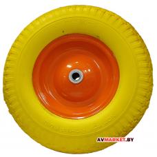 Колесо для тачки 4,00-8 2*120 PU 20*70 Китай желтое
