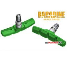 Колодки тормозные BARADINE MTB 947V-GN