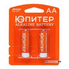 Батарейка AA LR6 1.5V alkaline 2шт Юпитер JP2121 Китай
