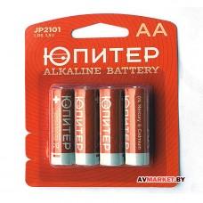 Батарейка AA LR6 1.5V alkaline 4шт Юпитер JP2101 Китай