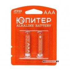 Батарейка AAA  LR03 1.5V alkaline 2шт Юпитер JP2122 Китай