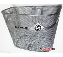Корзина вело 340х270х240мм BK-101, серый/серебристый, стойка, крепеж, сталь, Китай