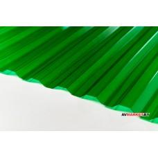 Кровельный монолитный п/к 0,8 мм Трапеция зеленый