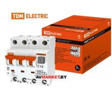 Автоматич. выключатель 63 4P C16 300мА TDM SQ0202-0025 Россия