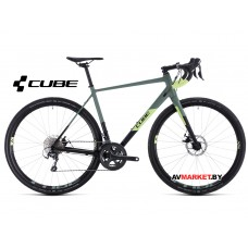 Велосипед Cube Nuroad Pro black'n'sharpgreen 2020 57cm Германия 380100