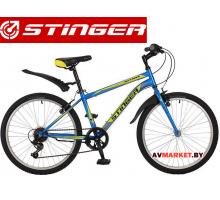 Велосипед Stinger 24 Defender 12,5 зеленыйTY21/RS35 # 117371 24SHV DEFEND 12BL7 Китай