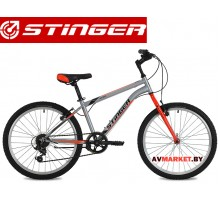 Велосипед Stinger 24 Defender 12,5 серый TY21/TS38.24SHV DEFEND 12GR8 Россия