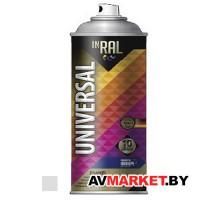 Краска-эмаль аэроз. универсальная  серебряный хром INRAL  400мл (9006) 26-7-6-021