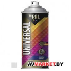 Краска-эмаль аэроз. универсальная  серебряный хром INRAL  400мл 9006 26-7-6-021 Польша