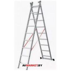 Лестница алюм. 2-х секц. 228/336 см2*8 ступ. 7,2 к