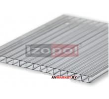 Сотовый поликарбонат (П) 3,5мм -3,8мм(Прозрачный) 2100х6000 РФ Izopol