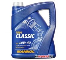 Масло Mannol Classic SAE 10w40 API SN/CF 5 л п/с 7501-5