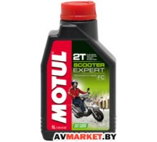 Масло Motul SCOOTER EXPERT 2T 1 л моторное полусинтетическое для 2-х тактных двигателей скутеров 1л