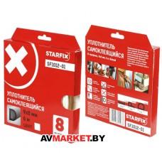 """Уплотнитель """"D"""" белый 9х8мм 6м STARFIX SF1012-01 Китай"""