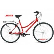 """Велосипед ALTAIR CITY 28 low (28"""" 1ск рост 19"""") жен темно-красный/белый RBKT1YN81008 2020-2021"""