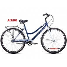 "Велосипед ALTAIR CITY 28 low (28"" 1ск рост 19"") жен темно-синий/белый RBKT1YN81007 2020-2021"