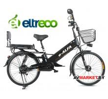 Велогибрид Eltreco e-Alfa GL (matt/black 0333) китай
