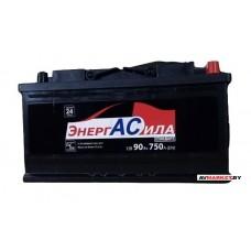 Аккумуляторная батарея ЭнергАсила Standart 90Ah (R+) 750А Беларусь А9075
