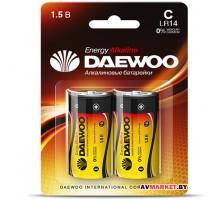 Батарейка C LR14 1.5V alkaline BL-2шт DAEWOO ENERGY 4690601030405