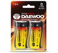 Батарейка D LR20 1.5V alkaline BL-2шт DAEWOO ENERGY 4690601030429