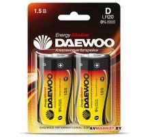 Батарейка D LR20 1.5V alkaline BL-2шт DAEWOO ENERGY 4690601030429 Китай