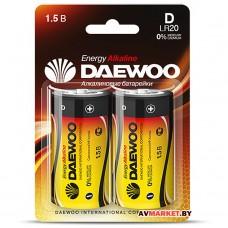 Батарейка D LR20 1.5V alkaline BL-2шт DAEWOO ENERGY 1030429 Китай