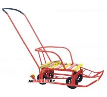 Санки детские Тимка 5 универсал (выдвижные колёса) красный T5У красный Россия