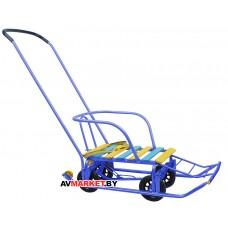 Санки детские Тимка 5 универсал (выдвижные колёса) синий T5У синий Россия
