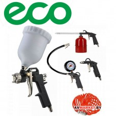 Набор пневмоинструмента ECO SGK-5 (5 предметов вер бак) Китай