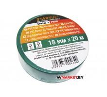 Изолента ПВХ 18мм*20мм зеленая STARTUL PROFI ST9046-4 Китай