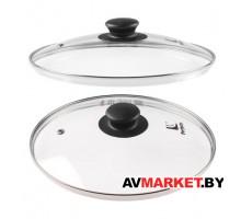 Крышка стеклянная 240мм с металлическим ободом круглая PERFECTO LINEA 25-024020