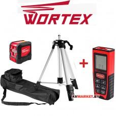 Нивелир лазерный WORTEX LL 0210 K со штативом в кор +акция (дальномер лазерный ДК 6005) Китай