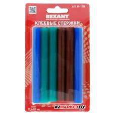 Стержни клеевые d=11.3мм L=100мм цветные упак. 12 шт блистер REXANT 09-1230