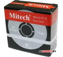 Проволока сварочная с флюс сердечником E71T-8 0.8mm 1kg/D100 Mitech