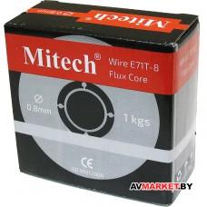 Проволока сварочная(без газа) с флюс сердечником E71T-8 0.8mm 1kg/D100 Mitech Китай