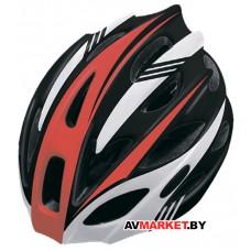 Шлем велосипедный Cigna WT-016 (черный/красный/белый 57-61см) Китай 6138