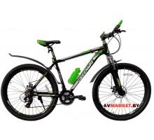 Велосипед GREENWAY 27М021 27,5 горный для взрослых черно-зеленый