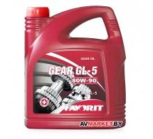 Масло SAE 80W90 4л. трансмиссионное минеральное универсальное всесезонное Favorit Gear GL-5 API GL-5