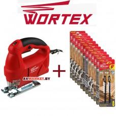Лобзик электрический WORTEX JS 6506-1 E в кор. +акция пилки лобзиковые