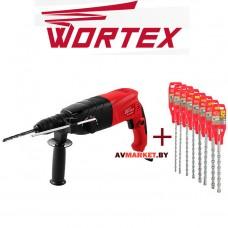 Перфоратор WORTEX RH 2427 F в чем +АКЦИЯ (буры Е2, Е4 на 6-8-10-12*210мм