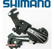 Переключатель задний SHIMANO Tourney TY21-B GS 6ск крепление на ось черн б/уп 4339