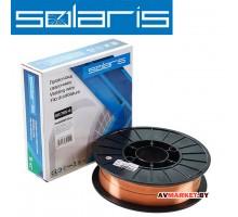 Проволока сварочная омедненная ER 70S-6 ф0,8мм (катушка D200 5 кг) SOLARIS WM-ER70S6-08050 Китай