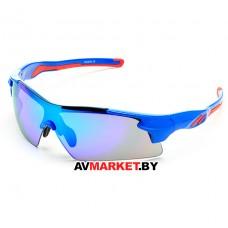 Очки солнцезащитные 2K S-14058-B (синий глянец/синий revo) 5917 Тайвань