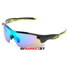 Очки солнцезащитные 2K S-14058-B (черный глянец/зеленый revo) 3631 Тайвань