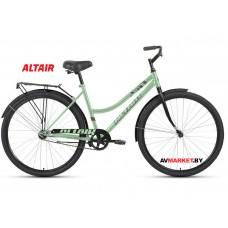 """Велосипед ALTAIR CITY 28 low (28"""" 1ск рост 19"""") жен мятный/черный RBKT1YN81011 2020-2021"""