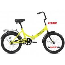"""Велосипед ALTAIR City 20 скл. (20"""" 1ск рост 14"""") светло-зеленый/черный RBKT0YN01004"""