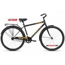 """Велосипед ALTAIR CITY 28 high (28"""" 1ск рост 19"""") муж темно-серый/оранжевый RBKT1YN81005 2020-2021"""