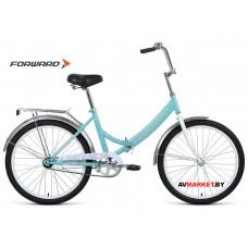 "Велосипед Forward Valencia 24 1.0 скл (24"" 1ск рост 16"") мятный/серый RBKW0YN41005 2019-2020"